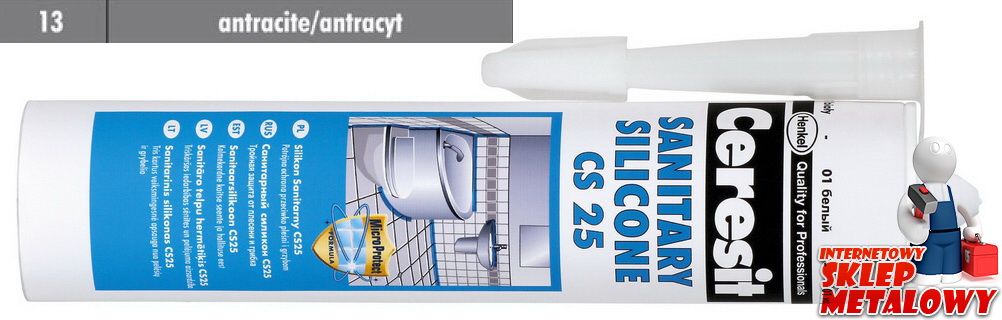 Ceresit CS25 Silikon sanitarny 13 antracyt