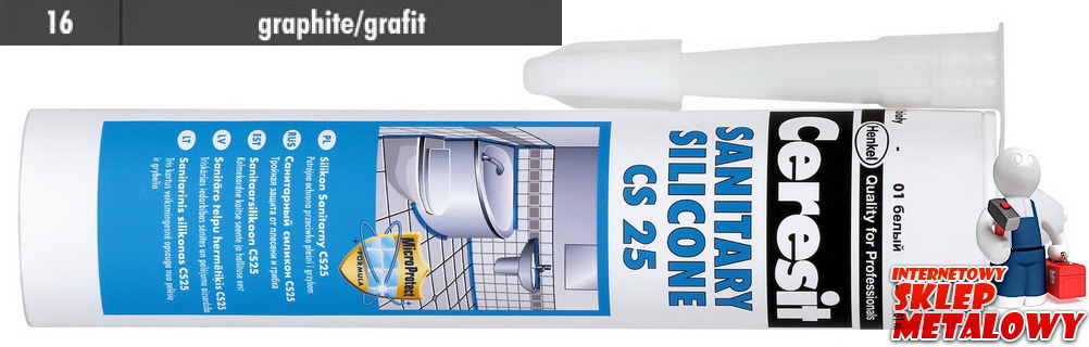 Ceresit CS25 Silikon sanitarny 16 grafit