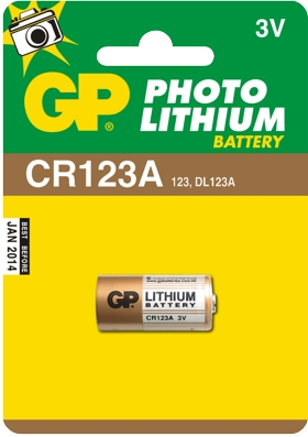 GP Bateria litowa CR123A BL/1 Photo Lithium