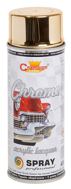 Lakier spray Super Chrom 400 ml złoty Champion