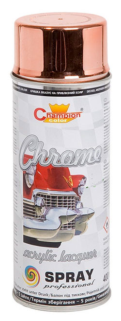 Lakier spray Super Chrom 400 ml miedziany Champion