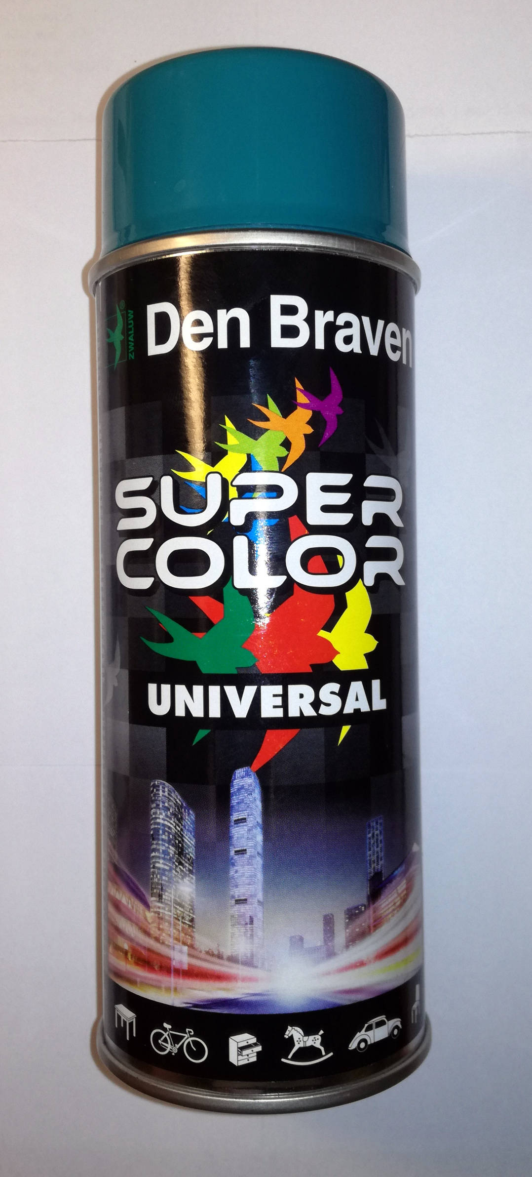 Lakier w sprayu turkusowy Super Color DenBraven 400ml